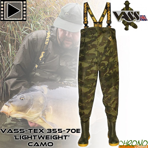 Vass-Tex 355 /'Lightweight/' Camo Waders *New 2020* Free Delivery